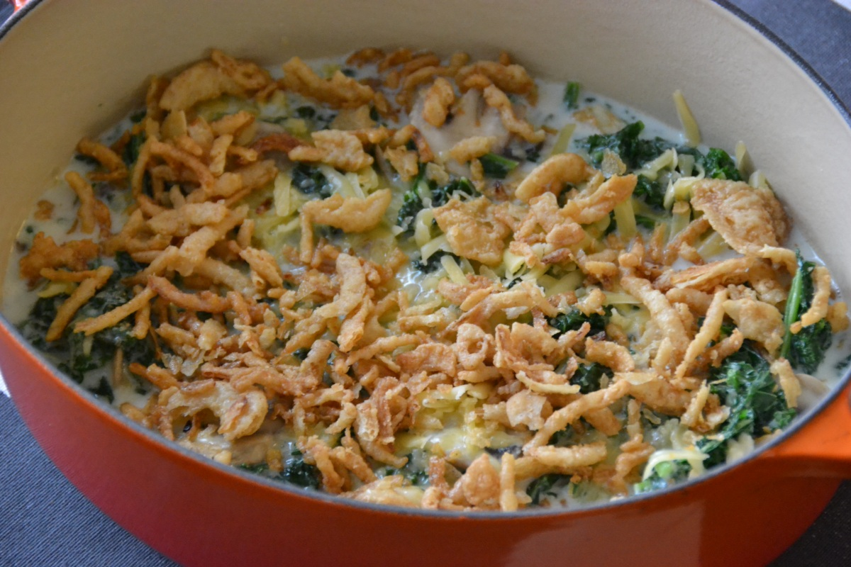 Kale Casserole {an Update on the Classic Thanksgiving Green Bean Casserole}