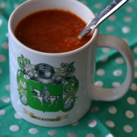 Fire-Roasted Tomato Soup {in your Crockpot}