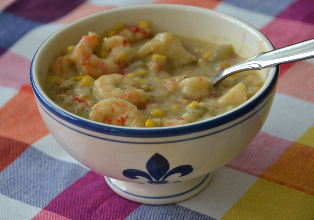 Shrimp and Corn Chowder {in your Crockpot}
