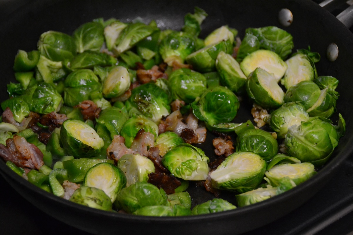 Sweet and Sour Brussels Sprouts with Bacon