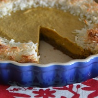 Coconut Pumpkin Pie with a Gingersnap Crust