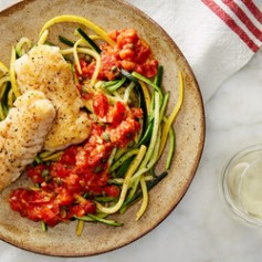 SEARED_HAKE_w_SAUCE_VIERGE_and_ZUCCHINI_SQUASH_NOODLES-001